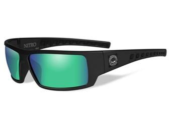 HD Nitro Green Mirror Matte Black Frame
