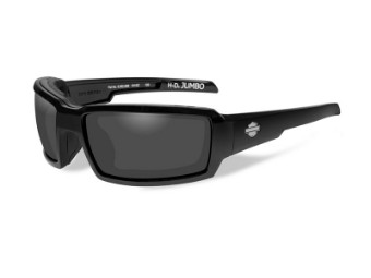 HD Jumbo Smoke Grey Gloss Black Frame