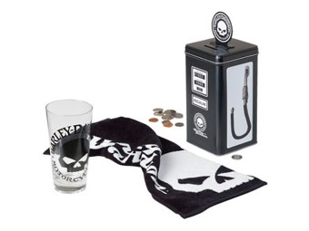 HD Skull Bank Tall Glas Set