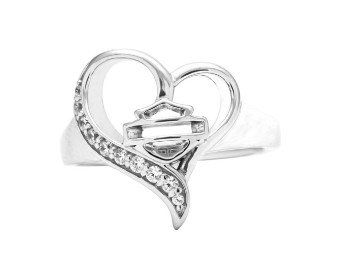 Rebel Heart White Cz Ring