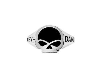 Small Onyx Skull Ring