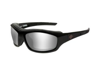 HD Tunnel Grey Silver Flash Gloss Black Frame