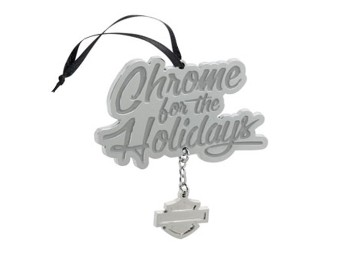 HD-Chrome Holiday pewter Ornament