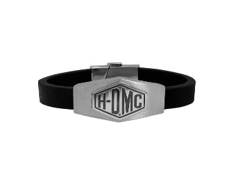 H-Dmc Shiny Silver&Silver Matte Leat her Bracelet