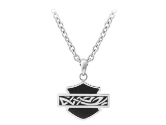 Small Black Celtic Enamel Necklace