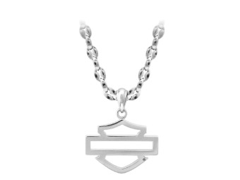 Steel Outline B&S Necklace