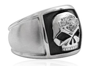 H-D Stainless Steel Skull Cigar Band