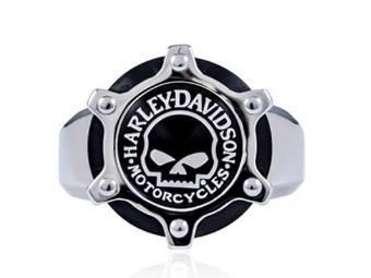 Steel Skull Gear Ring
