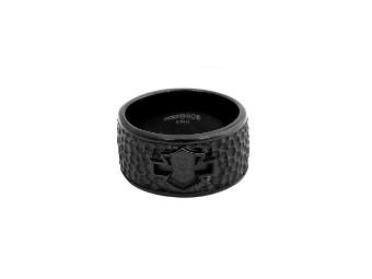 Black Asphalt B&S Outline Band Ring