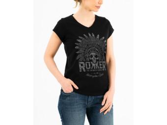 Indian Bonnet Black Lady T-Shirt