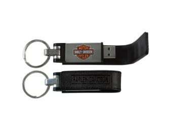 Keychain Metal USB-Leather Case