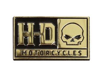 Pin H-D Skull,2D Cast w/Heavy Relief