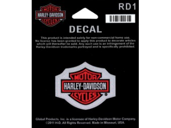 Decal, Bar & Shield, Reflective, XS,