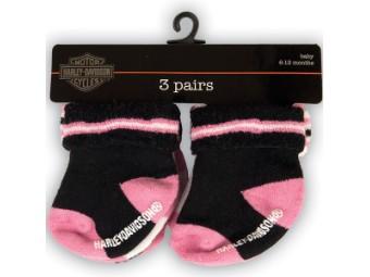 Girls 3 Pack Socks