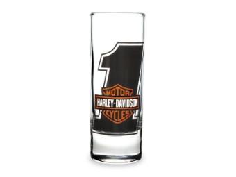 Shotglass,#1 Bar&Shield,Tall Clear