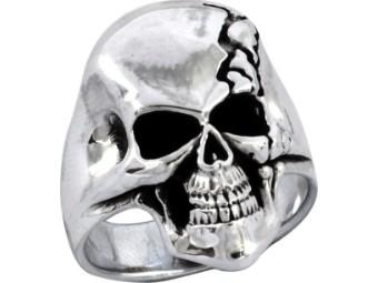 Ring, HD TI ETCHD SKULL & SILH