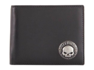 Geldbörse, Skull Concho Bi-Fold, RFID-Schutz, Harley-Davidson, Schwarz