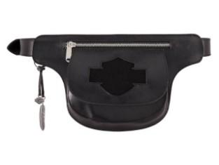 Echtledergürtel, Abnehmbarer Hüfttasche, Harley-Davidson Schwarz