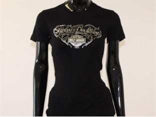 T-Shirt, Silver Roads, Harley-Davidson, Schwarz