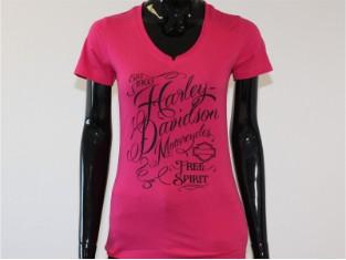 T-Shirt, Sensation, Harley-Davidson, Pink