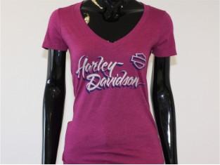 T-Shirt, Gracious, Harley-Davidson, Lila