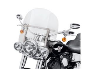 "Windschutzscheibe, Abnehmbar, King-Size, 18"" klar & polierte Streben, Harley-Davidson"
