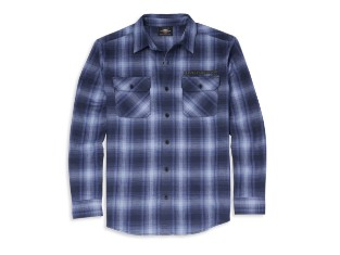 Hemd, Willie G. Skull, Harley-Davidson, Blau