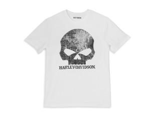 T-Shirt, Milwaukee Map Skull, Harley-Davidson, Weiß