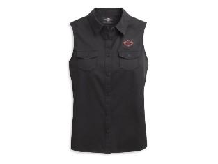 Top, Roses, Bar & Shield, Harley-Davidson, Schwarz