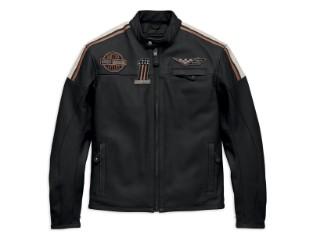 Lederjacke, Gorgan, Harley-Davidson, Schwarz