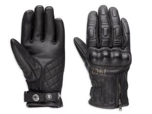 Handschuhe, Leder, Richards, Harley-Davidson, Schwarz