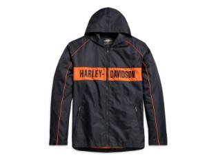 Jacke, Stripe Orange, Harley-Davidson, Schwarz