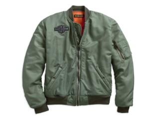 Bomberjacke, Slim Fit, Harley-Davidson, Grün