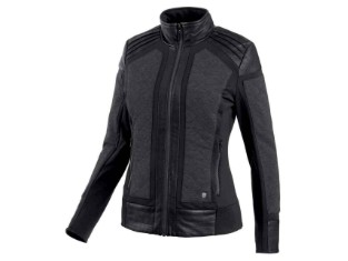 Jacke, Mixed Media Embossed Casual Jacket, Schwarz