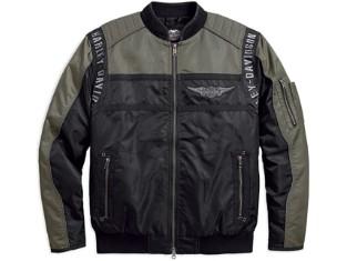 Jacke, Mainstreet, Nylon, Bomber, Harley-Davidson, Schwarz