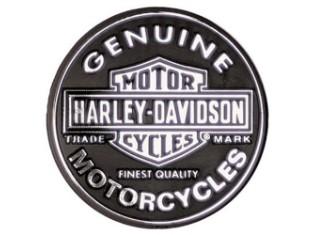 Aufkleber, 3D, Bar & Shield, Harley-Davidson, Chrome