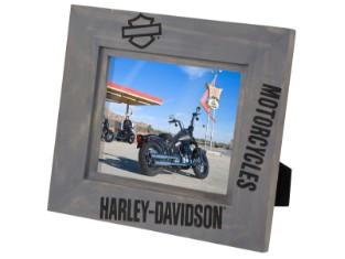 Bilderrahmen, Holz, Bar & Shield, Harley-Davidson