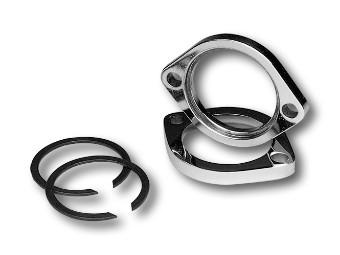 Flansch & Sicherungsring Kit, Custom Chrome, Chrom