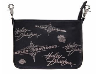 Umhängetasche, Bar & Shield, Silber Flash, Harley-Davidson, Schwarz