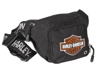 Gürteltasche, Bar & Shield Logo, Wasserabweisend, Harley-Davidson, Schwarz