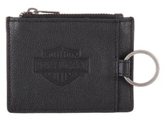 Harley-Davidson® Herren Bar & Shield Enzo Slim Wallet w/ RFID - Schwarz HDMWA11524