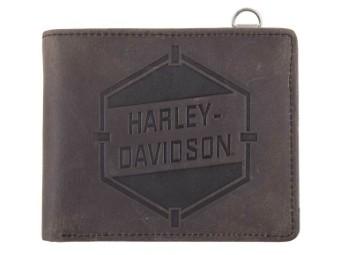 Geldbörse, Bi-Fold, RFID, Harley-Davidson, Braun