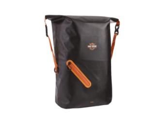 Rucksack, Wasserfest, 30 Liter, Harley-Davidson, Schwarz/Orange