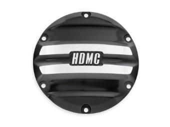 Derby Cover, HDMC Rail, Harley-Davidson, Schwarz
