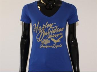 T-Shirt, Infinite, Harley-Davidson, Blau