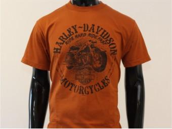 T-Shirt, Battle Cry, Harley-Davidson, Braun