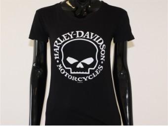 T-Shirt, Skull Woman, Harley-Davidson, Schwarz