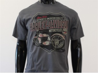 T-Shirt, Fine Heritage, Harley-Davidson, Dunkelgrau