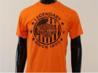 T-Shirt, Direct Course, Harley-Davidson, Orange
