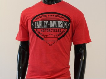 T-Shirt, Always Show Off, Harley-Davidson, Rot